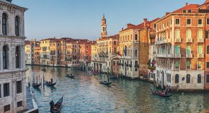 Painting of the Grand Canal in Venice, Italy